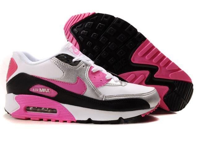 air max 90 essential femme noir et rose,Nike Air Max Negro Y Blanco Baskets  Air Max 90 Essential Blanc