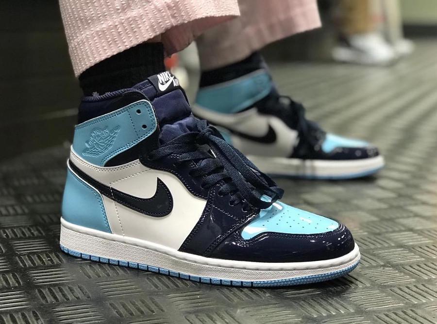 femme air jordan 1 high blanche et bleu,La Air Jordan 1 High UNC ...