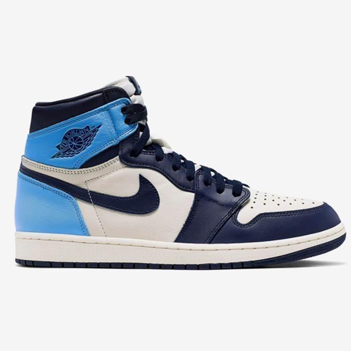 homme air jordan 1 retro noir et bleu,Basket Air Jordan 1 ...