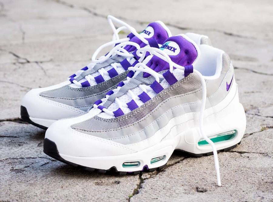 homme air max 95 blanche et gris et violet,Nike Air Max 95 Blanche ...